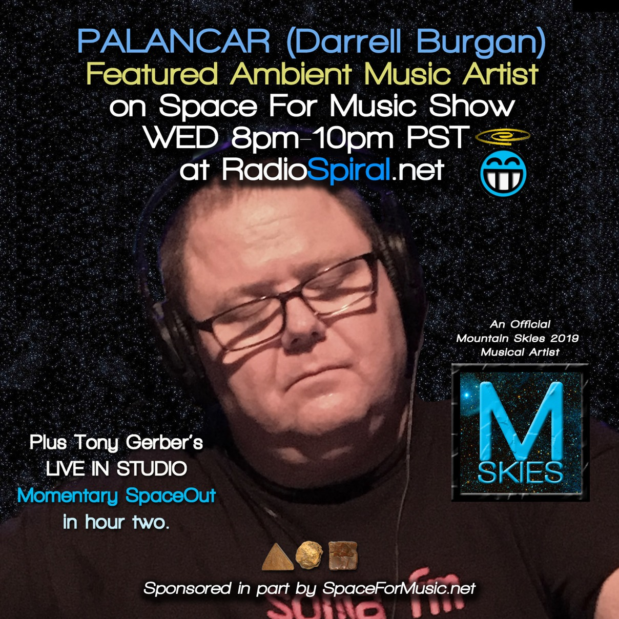 Space for Music Shows w/host Tony Gerber at RadioSpiral net